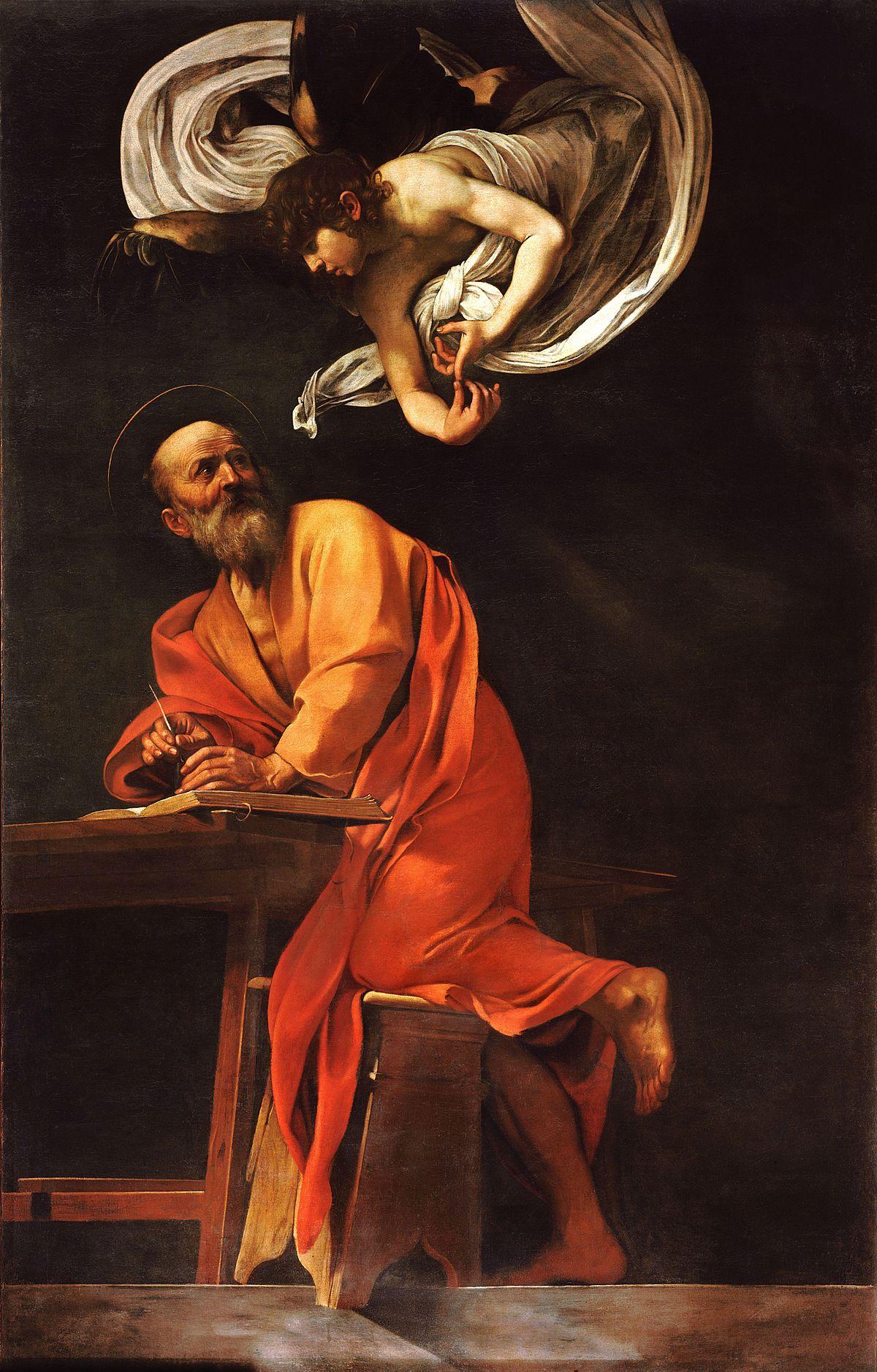 La Vocation De Saint Matthieu : vocation, saint, matthieu, Saint, Matthieu, L'Ange, Wikipédia