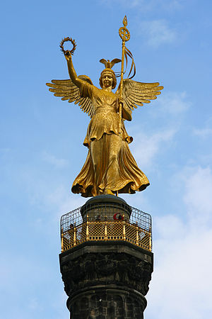 pinnacle of the Victory Column in Berlin, Germany