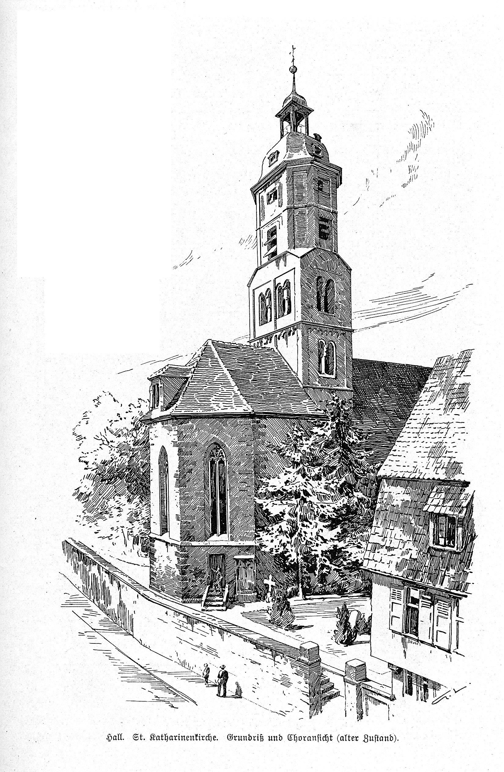 Datei:Choransicht (alter Zustand) der Kirche St. Katharina