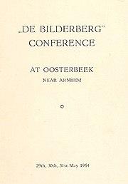 Booklet zur ersten Bilderberg-Konferenz 1954