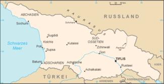 Karte Georgiens mit abtrünnigen Republiken