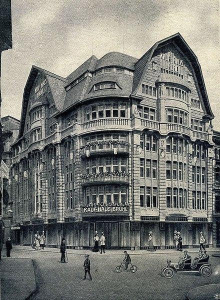 Kaufhaus Brühl um 1908
