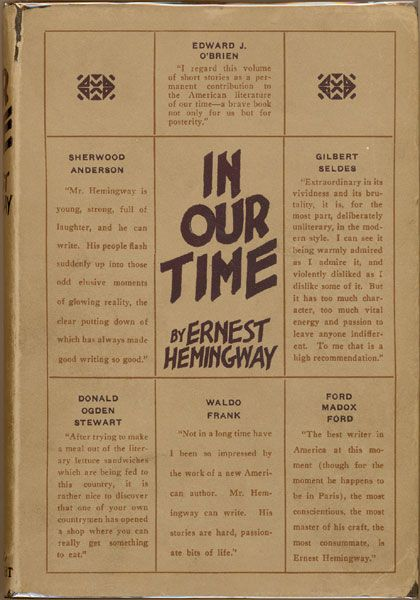 File:In Our Time (Ernest Hemingway) 1st edition cover.jpg