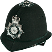An image of a Metropolitan Police Service helmet
