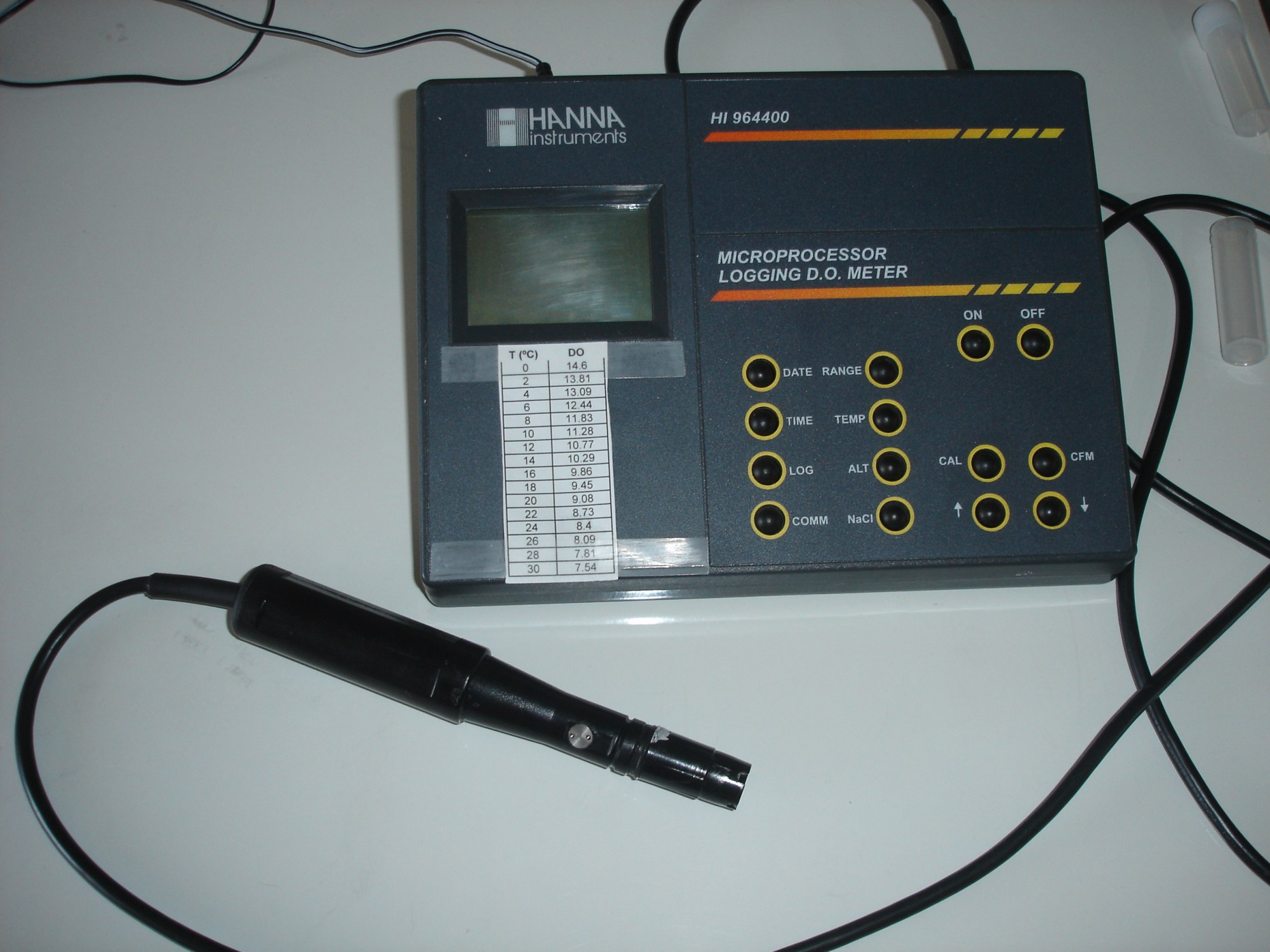 hight resolution of a dissolved oxygen meter for laboratory use