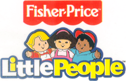 The Fisher Price Little People logo used begin...