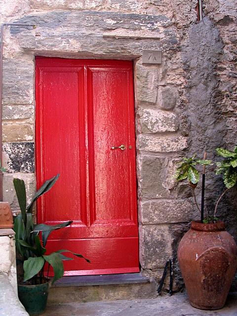 Italian red door