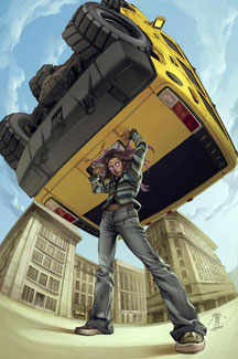 Cover to Runaways vol. 1 #15 Art by Jo Chen.