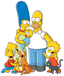 Clockwise from top left: Marge, Homer, Bart, S...