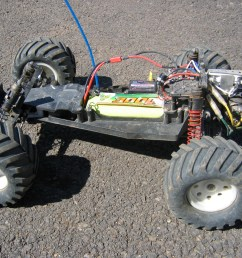 a traxxas electric rustler a rear wheel drive stadium truck without body radio controlled cars  [ 2272 x 1704 Pixel ]