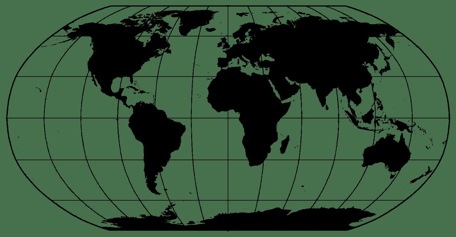 File World Map Black