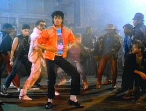 """Jackson in the music video for """"Beat It&q..."""