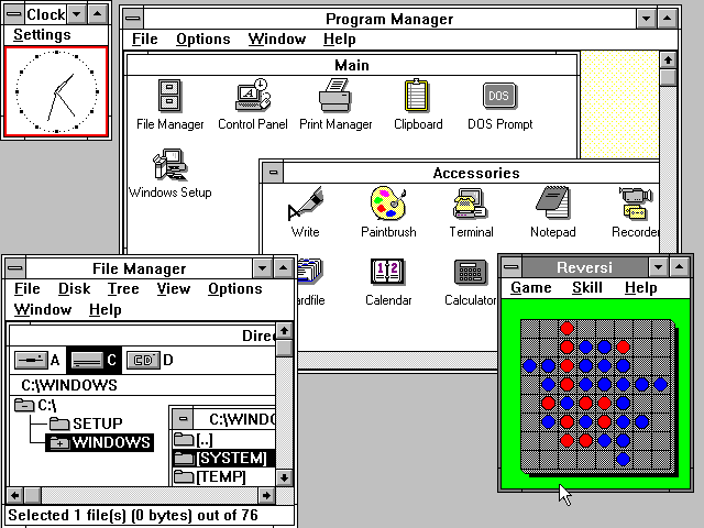 Windows 3.0 from Microsoft