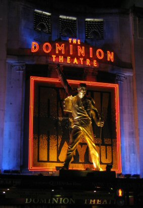 Freddie Mercury statue at the Dominion Theatre, London