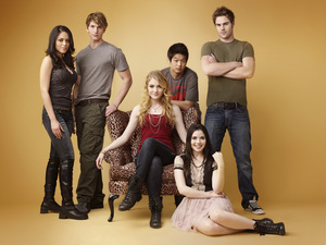 The main cast of The Nine Lives of Chloe King