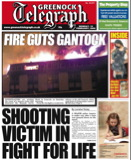 Greenock Telegraph Front Page