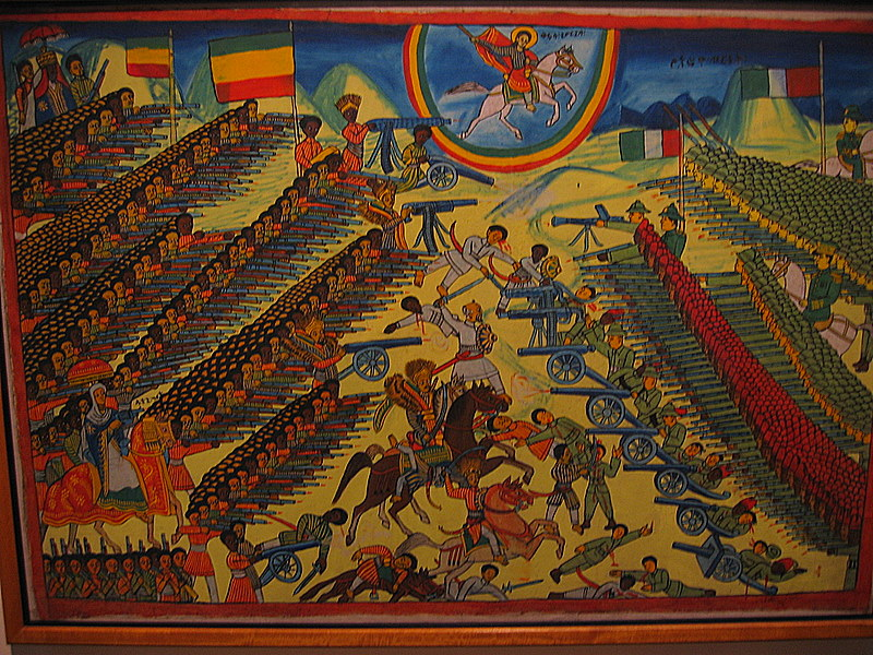 Ethiopians attribute the help of St. George in their defeat of Italy