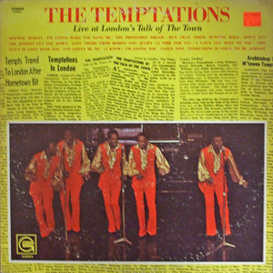 Live At Londons Talk Of The Town The Temptations Album