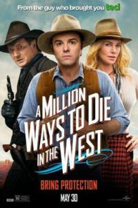 Poster for 2014 comedy western A Million Ways to Die in the West