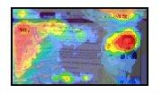 An eye-tracking Heatmap showing where a subjec...