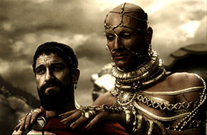Leonidas and Xerxes discuss surrender