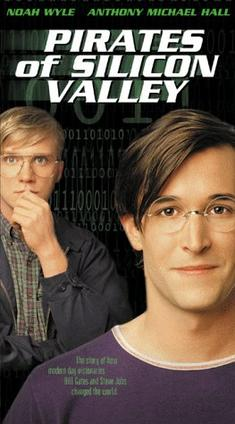 This is the cover art for the video cassette Pirates of Silicon Valley. The cover art copyright is believed to belong to the distributor of the film, Turner Network Television, or the publisher of the film.