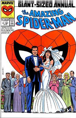Mary Jane gets married to Peter. Cover to The ...