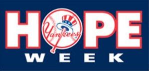 Logo for Yankees HOPE Week