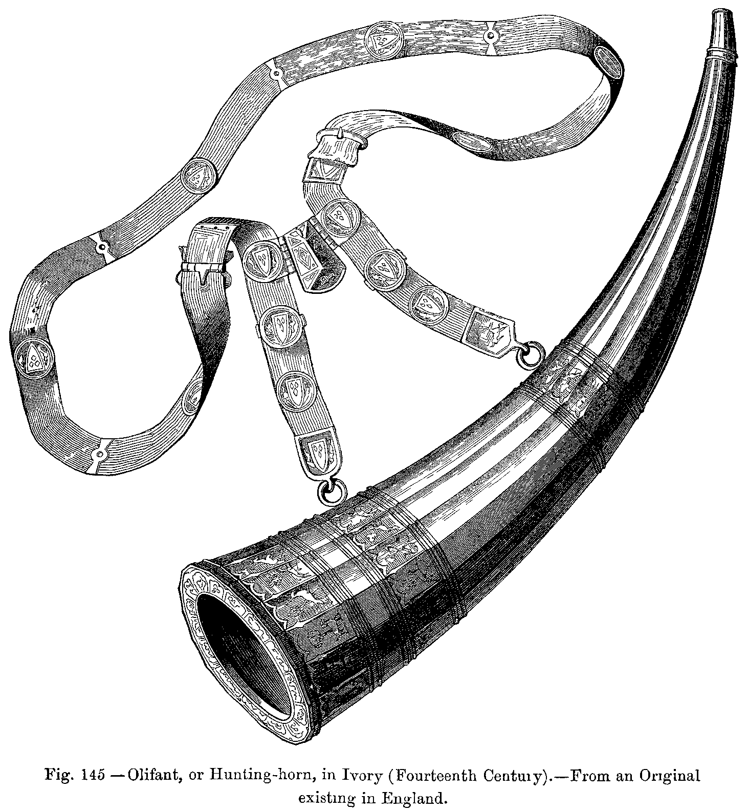 File Olifant Or Hunting Horn In Ivory Fourteenth Century