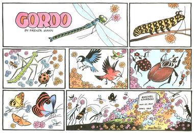 Gordo, Sunday comic strip honoring Rachel Carson, by Gus Arriola