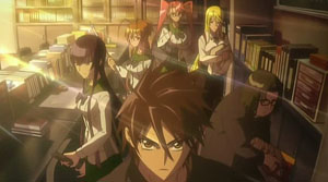 The main cast of Highschool of the Dead, from ...