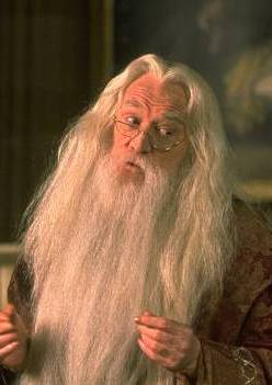 Dumbledore as portrayed by the late Richard Ha...