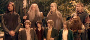 The eponymous Fellowship from left to right: (...