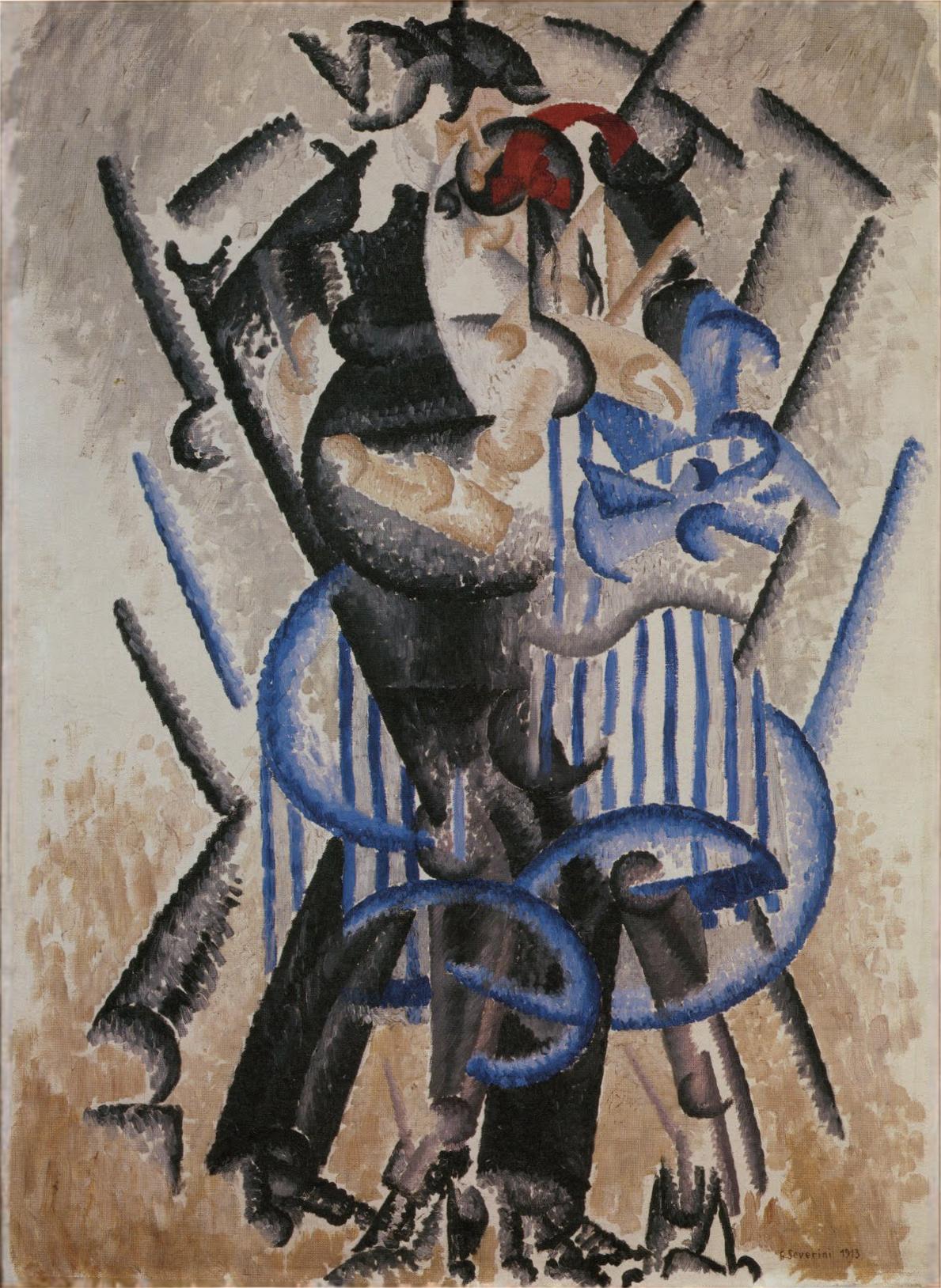La Danse De L Ours : danse, File:Gino, Severini,, 1913,, Danse, L'ours, Moulin, Rouge,, Canvas,, Musée, National, D'Art, Moderne.jpg, Wikipedia