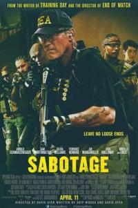 Poster for 2014 action film Sabotage