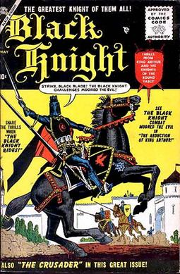 Black Knight #1 (May 1955). Cover art by Maneely