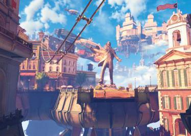 BioShock Infinite takes place on the steampunk...