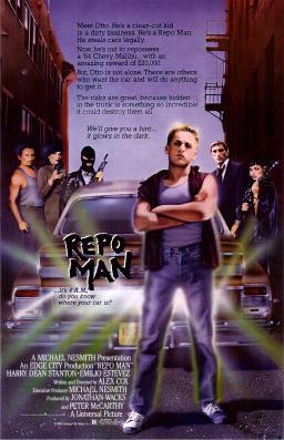 Film poster for Repo Man. Copyright 1984, © Un...