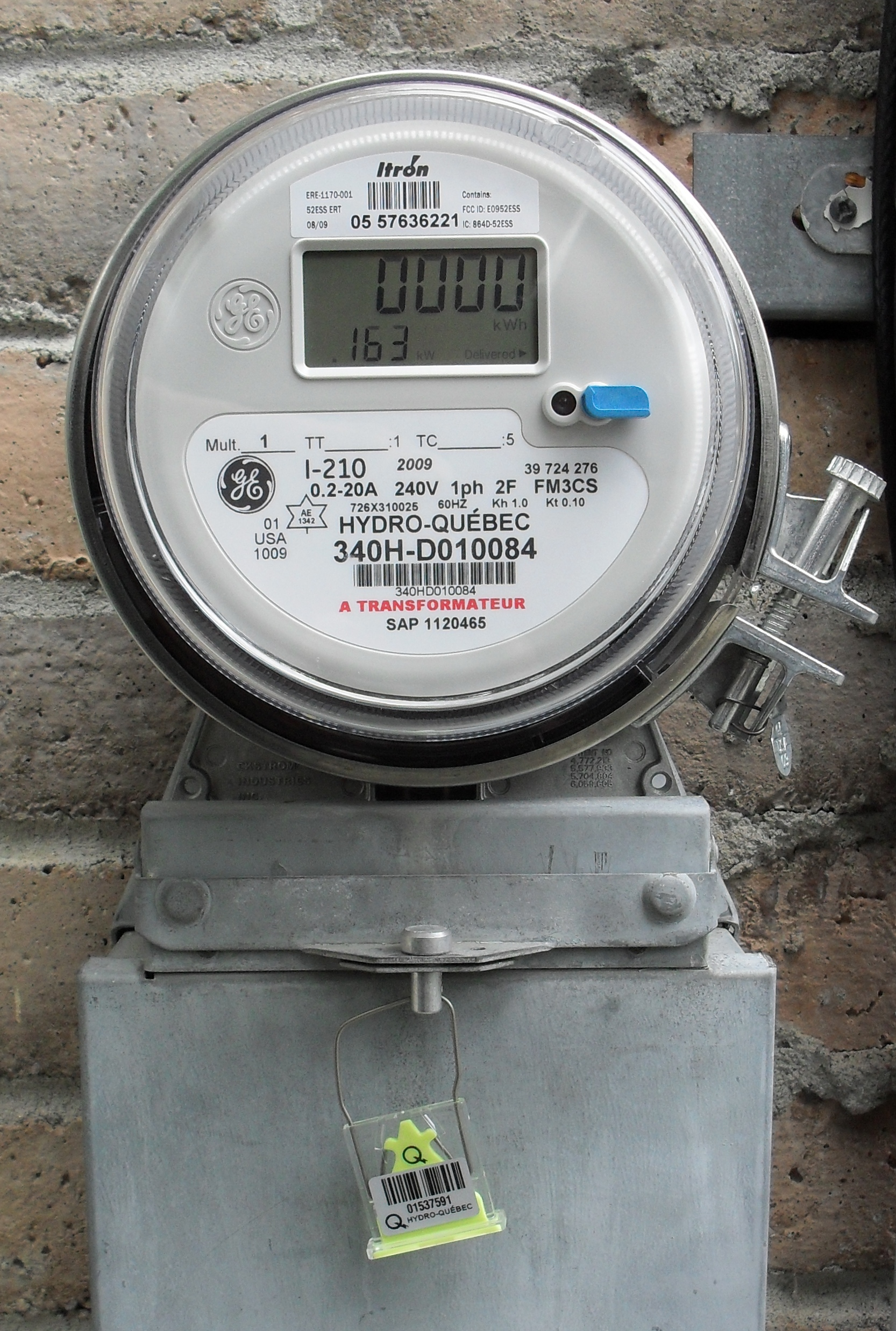 hight resolution of north american domestic electronic electricity meter
