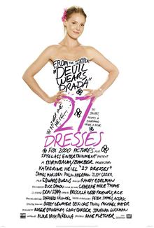 Film poster for 27 Dresses - Copyright 2007, T...