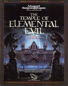 Book cover, The Temple of Elemental Evil by Ga...