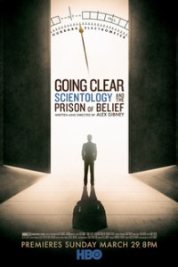 Poster for 2015 documentary Going Clear: Scientology and the Prison of Belief
