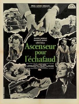 Original film poster: Ascenseur pour léchafaud