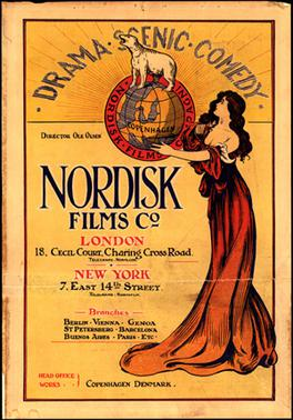 Poster for Nordisk (aka Great Northern) from wikipedia, date not given (though I'm gonna guess its earlier than 1911)