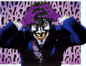 The Joker, after emerging from the canal of ch...