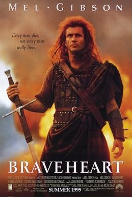 Mel Gibson playing William Wallace in Bravehea...