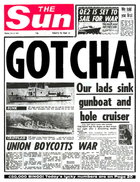 Britain's most famous front page - the Sun's Gotcha