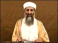 A still of 2004 Osama bin Laden video