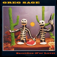 Greg Sage's album cover for Sacrifice (For Love)