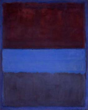 No. 61 (Rust and Blue), 1953, 115 cm × 92 cm (...